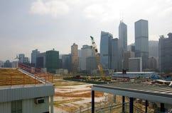 Construction site in Hong Kong Stock Photos