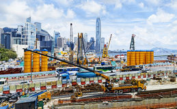 Construction site in Hong Kong Royalty Free Stock Photography