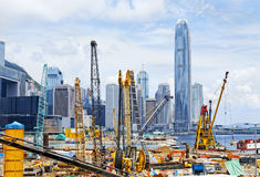 Construction site in Hong Kong Stock Photo