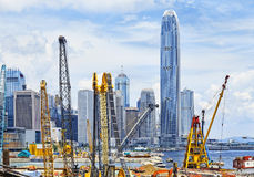 Construction site in Hong Kong Stock Images