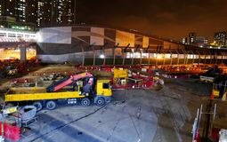 Construction Site of Hong Kong High Speed Express Rail stock photo