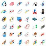 Construction Site Icons Set, Isometric Style Royalty Free Stock Photo