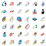 Construction site icons set, isometric style. Construction site icons set. Isometric set of 36 construction site vector icons for web isolated on white Royalty Free Stock Photo
