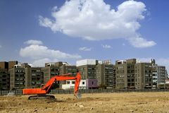 Construction Site In Beijing. Royalty Free Stock Photo