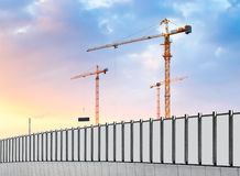 Construction site. Industrial landscape. Royalty Free Stock Image
