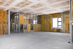 Construction Site - Inside View Royalty Free Stock Images