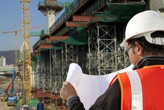 construction site inspector Royalty Free Stock Photo