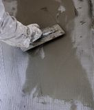 Construction site - Installing external insulation Royalty Free Stock Photos