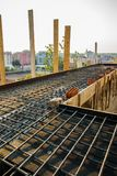 Construction site - iron for floor bases Stock Photo