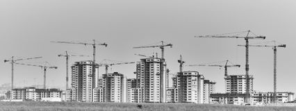 Construction site in Israel. Raanana - 20 February 2017: Construction site in Israel royalty free stock photos