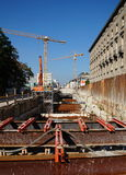 Construction site Karlsruhe Royalty Free Stock Photos
