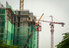 A construction site in Kuala Lumpur, Malaysia Stock Photography