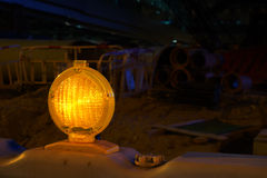 Construction site Lamp Stock Image