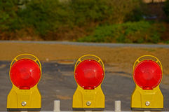 Construction site lamps Stock Images