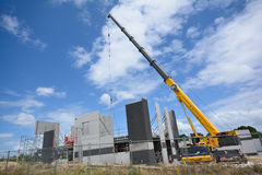 Construction site. A large crane used on a construction site royalty free stock photo