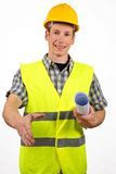 Construction site leader,isolated Stock Photo