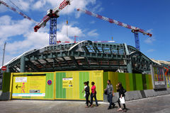 Construction site at Les Halles, Paris, France. Royalty Free Stock Images