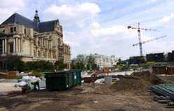 Construction site at Les Halles, Paris, France. Stock Photo