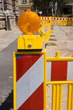 Construction site with lining poles Stock Photos