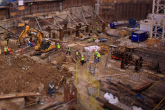 A construction site in London. A busy construction site in London Stock Images