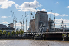 Construction site in London, UK. Stock Photo