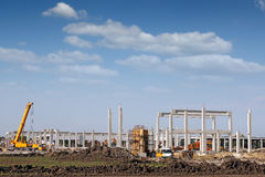 Construction site with machinery Royalty Free Stock Image