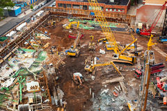 Construction site with machinery in New York Stock Image