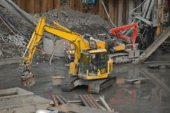 Construction site machinery Stock Photography