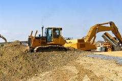 Construction site machines Royalty Free Stock Image