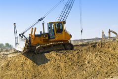 Construction site machines Royalty Free Stock Photo