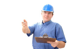 Construction site manager stock photos