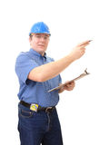 Construction site manager stock image