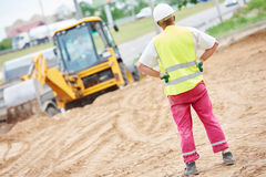 Construction site manager worker portrait Stock Images
