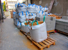 Construction site material stock image