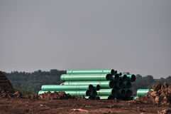 Construction Site Material. Construction site showing pipes,gravel and other equipment and material Stock Images