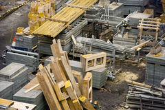 Construction Site with Materials stock photos