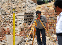 Construction site measurement Stock Photography