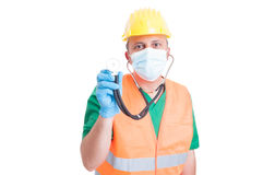 Construction site medic or doctor Royalty Free Stock Images