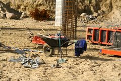 Construction site mess Royalty Free Stock Photo