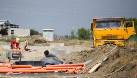 Construction site messy atmosphere Royalty Free Stock Photography