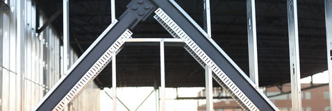 Construction site metal beam structure Royalty Free Stock Photo