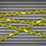 Construction Site Metal Shutter Stock Image