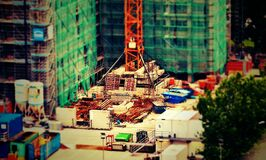 Construction Site Miniture Stock Photography