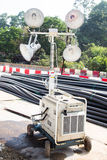 Construction site mobile spot light Stock Image