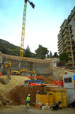Construction site,Monaco Royalty Free Stock Image