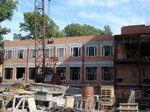 At Construction Site. Of a multistory building royalty free stock images