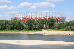 Construction site of National Stadium in Warsaw Royalty Free Stock Photography