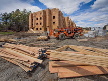 Construction site for new apartment complex Royalty Free Stock Photography