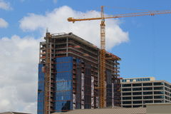 Construction site. Of a new building Royalty Free Stock Photos