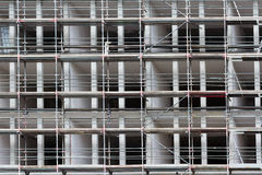 Construction site new building facade with scaffold Royalty Free Stock Photos